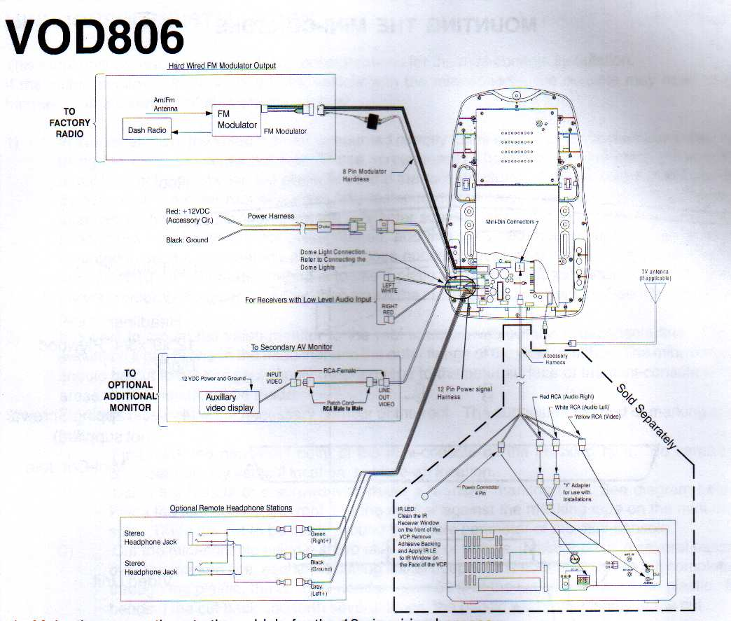 vod806_wiring dvd wiring diagram dvd van speaker wiring diagram \u2022 wiring xc90 headrest monitor wiring diagram at crackthecode.co